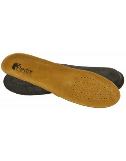 Suede anatomic insole